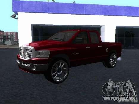 Dodge Ram 1500 v2 para la visión correcta GTA San Andreas