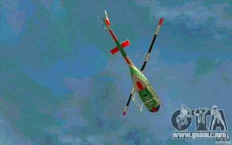 Bell 206 B Police texture3 para visión interna GTA San Andreas
