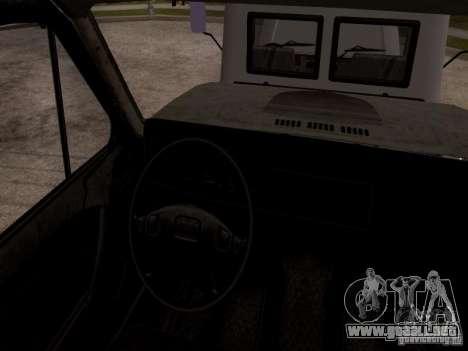 GAZ 3309 grúa para GTA San Andreas vista hacia atrás