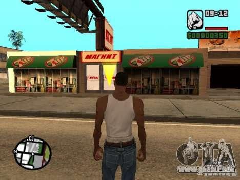 Tiendas de imán para GTA San Andreas sucesivamente de pantalla