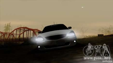 LADA 2170 California para visión interna GTA San Andreas