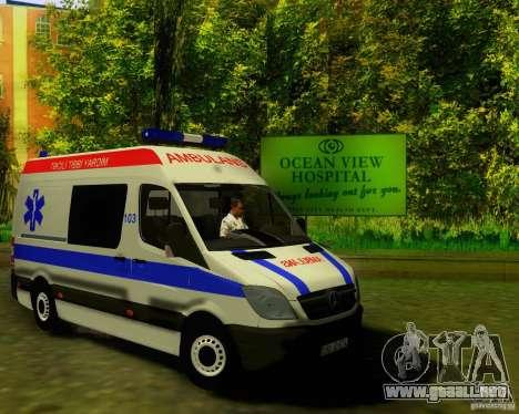 Mercedes-Benz Sprinter Baku Ambulans para GTA San Andreas left