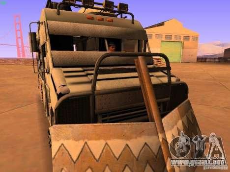 Monster Van para GTA San Andreas vista hacia atrás