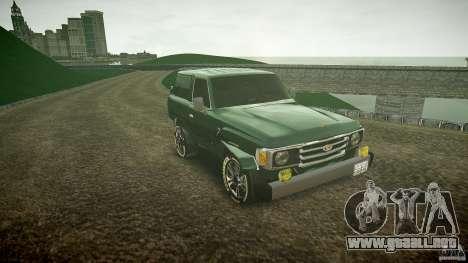 Toyota Land Cruiser 4.5 V2 para GTA 4 vista hacia atrás