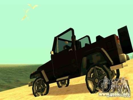 Mesa From Beta Version para GTA San Andreas vista posterior izquierda