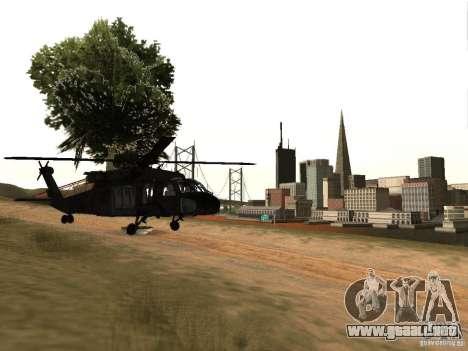 El helicóptero de CoD 4 MW para la visión correcta GTA San Andreas