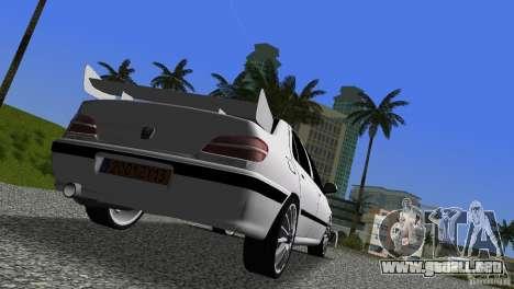 Peugeot 406 Taxi 2 para GTA Vice City vista posterior