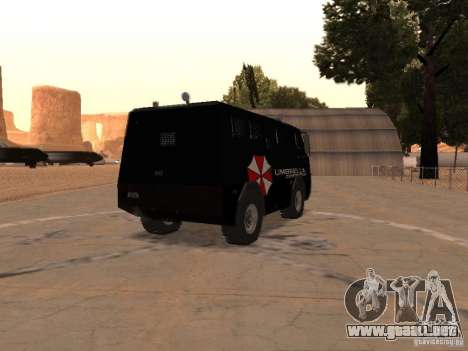 AM 7.0 Umbrella Corporation para la visión correcta GTA San Andreas