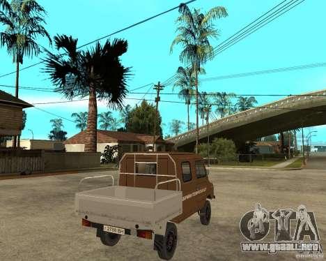 LuAZ-13021-04 para GTA San Andreas vista posterior izquierda