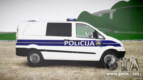 Mercedes Benz Viano Croatian police [ELS] para GTA 4 vista interior