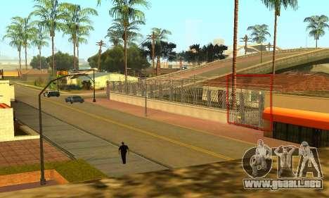 La cerca alrededor del surco Sreet para GTA San Andreas sucesivamente de pantalla