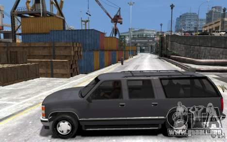 Chevrolet Suburban GMT400 1998 para GTA 4 left