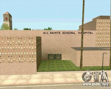 Nuevas texturas Hospital General de todos los Sa para GTA San Andreas sexta pantalla