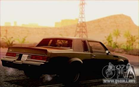 Buick GNX 1987 para la vista superior GTA San Andreas