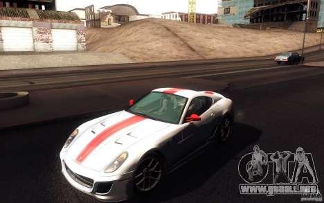 Ferrari 599 GTO 2011 para vista inferior GTA San Andreas