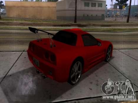 Chevrolet Corvette C5 para GTA San Andreas vista hacia atrás