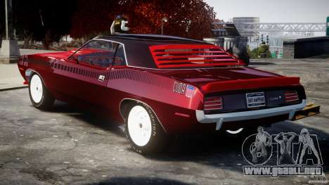 Plymouth Cuda AAR 340 1970 para GTA 4 vista lateral