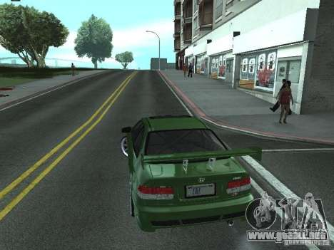 Honda Civic Si Sporty para GTA San Andreas left