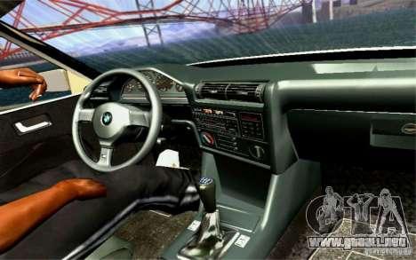 BMW E30 M3 Cabrio para la vista superior GTA San Andreas