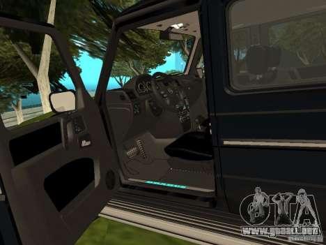Brabus B11 W463 2008 v1.0 para visión interna GTA San Andreas