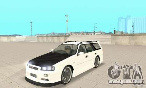 Nissan Stagea GTR para GTA San Andreas vista posterior izquierda