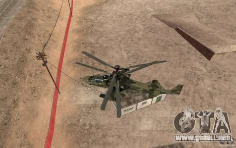 Ka-52 Alligator para GTA San Andreas vista hacia atrás