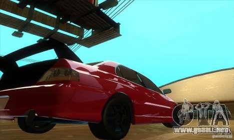 Mitsubishi Lancer Evolution IX Carbon V1.0 para la visión correcta GTA San Andreas