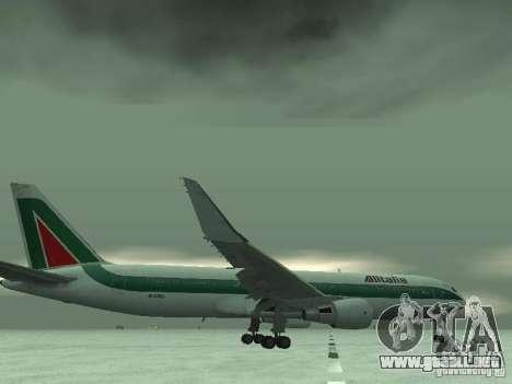 Boeing 767-300 Alitalia para vista inferior GTA San Andreas