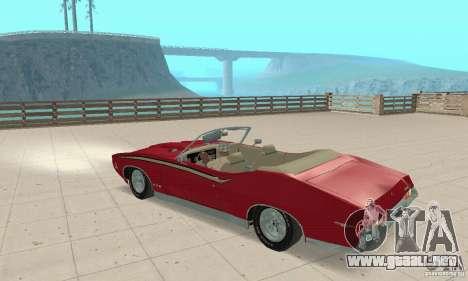 Pontiac GTO The Judge Cabriolet para GTA San Andreas vista hacia atrás