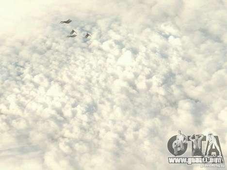 Nube de HD para GTA San Andreas segunda pantalla