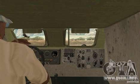 BRDM-1 piel 1 para GTA San Andreas vista hacia atrás