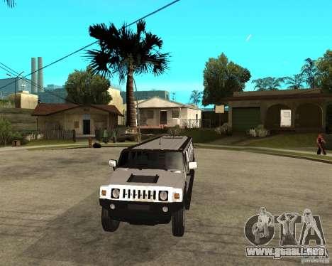 AMG H2 HUMMER 4x4 Limusine para GTA San Andreas vista hacia atrás