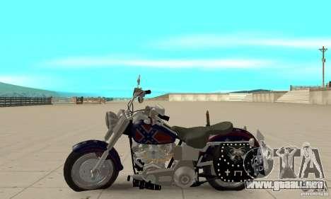 Harley Davidson FLSTF (Fat Boy) v2.0 Skin 4 para GTA San Andreas left
