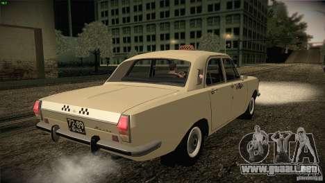 Taxi Volga GAZ-24 01 para la visión correcta GTA San Andreas