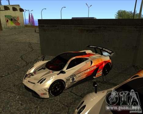 Pagani Huayra SHE para visión interna GTA San Andreas