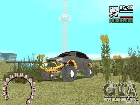 Vaz 21099 4 x 4 para la visión correcta GTA San Andreas