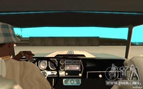 Chevrolet El Camino 1972 para GTA San Andreas vista hacia atrás