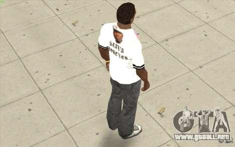 Camiseta: Exuberante Slavik para GTA San Andreas sucesivamente de pantalla