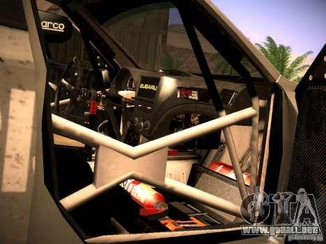 Subaru Impreza Gravel Rally para la vista superior GTA San Andreas