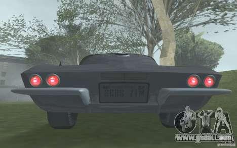 Chevrolet Corvette 427 para GTA San Andreas vista hacia atrás