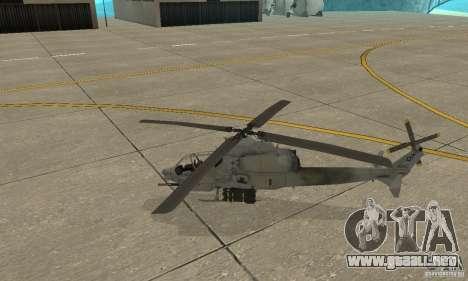 Hunter - AH-1Z Cobra para GTA San Andreas left