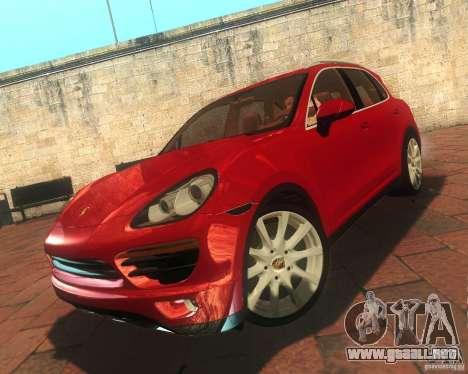 Porsche Cayenne 958 2010 V1.0 para visión interna GTA San Andreas