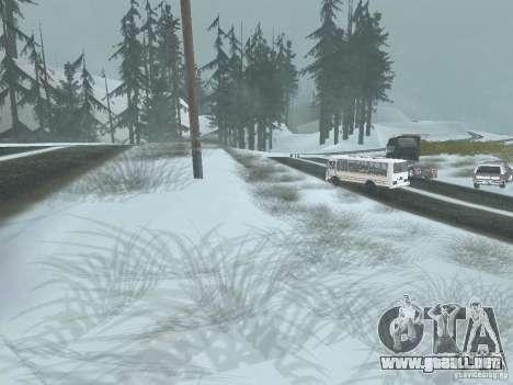 Invierno para GTA San Andreas segunda pantalla