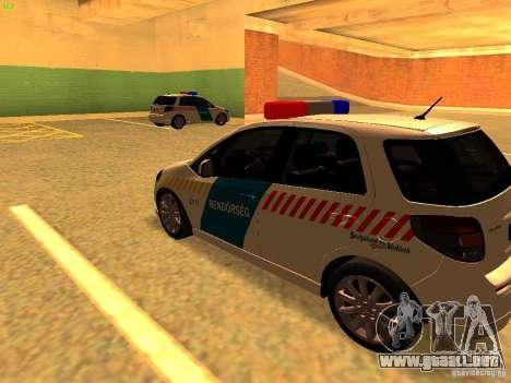 Suzuki SX-4 Hungary Police para GTA San Andreas vista posterior izquierda