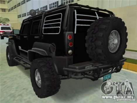 Hummer H3 SUV FBI para GTA Vice City left