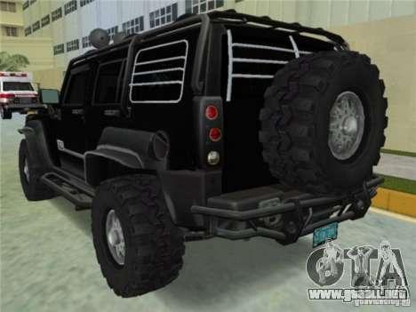 Hummer H3 SUV FBI para GTA Vice City left