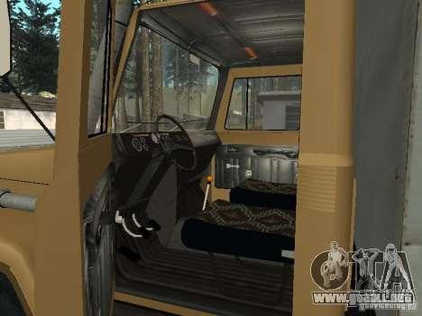 GAZ 3309 CR v2 para GTA San Andreas vista hacia atrás