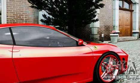 Ferrari F430 para GTA 4 vista hacia atrás