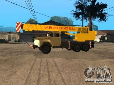 ZIL 133 para GTA San Andreas vista posterior izquierda