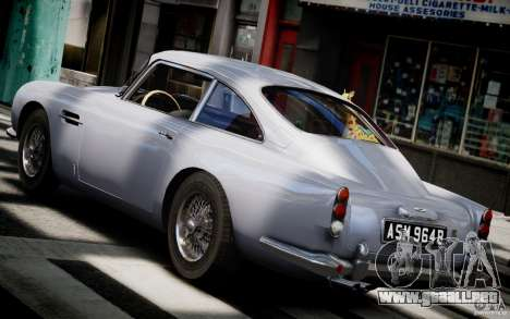 Aston Martin DB5 1964 para GTA 4 Vista posterior izquierda